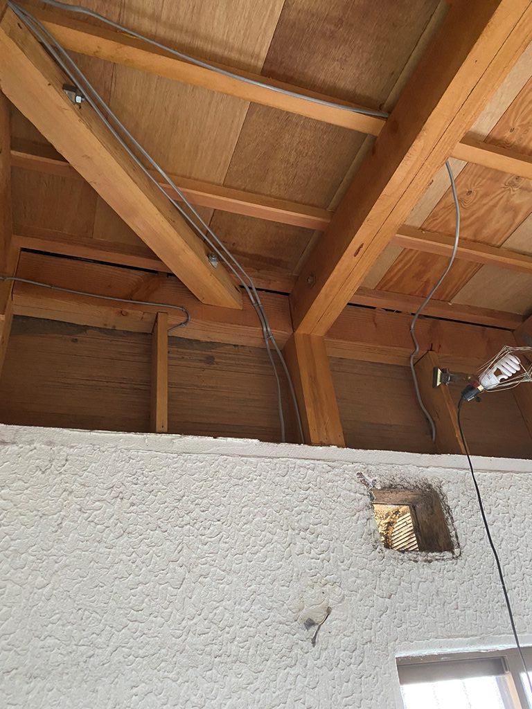 天井の解体後の様子