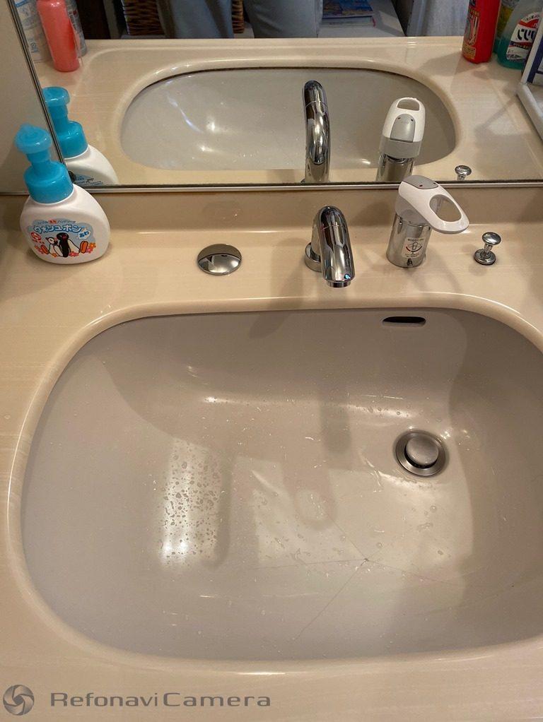 洗面台水栓取替え後写真