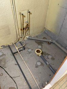 浴室解体工事後状況
