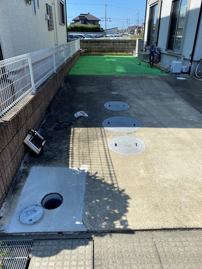 公共下水接続工事施工前