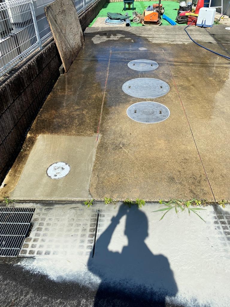 ガレージコンクリートカッター切断