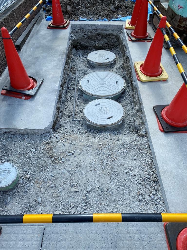 コンクリート斫り工事完了