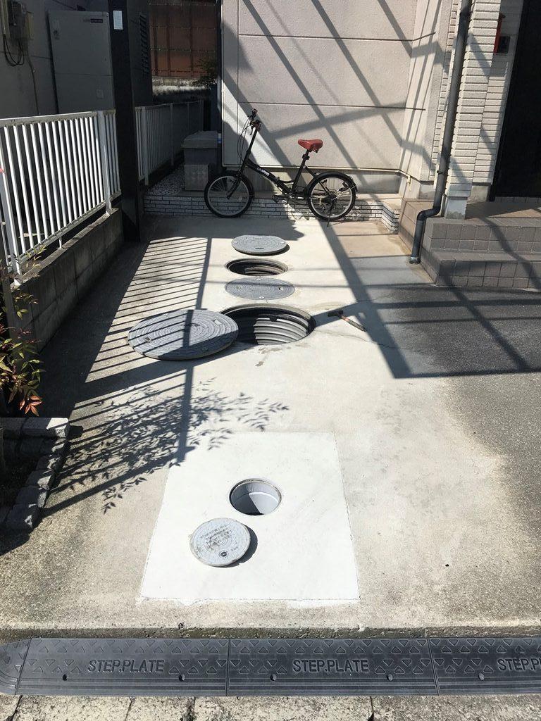 公共下水接続工事現況写真