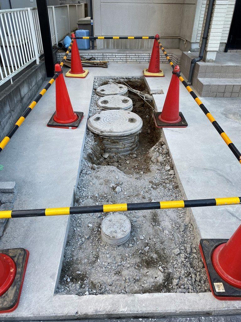 コンクリートカッター切断、斫り工事写真