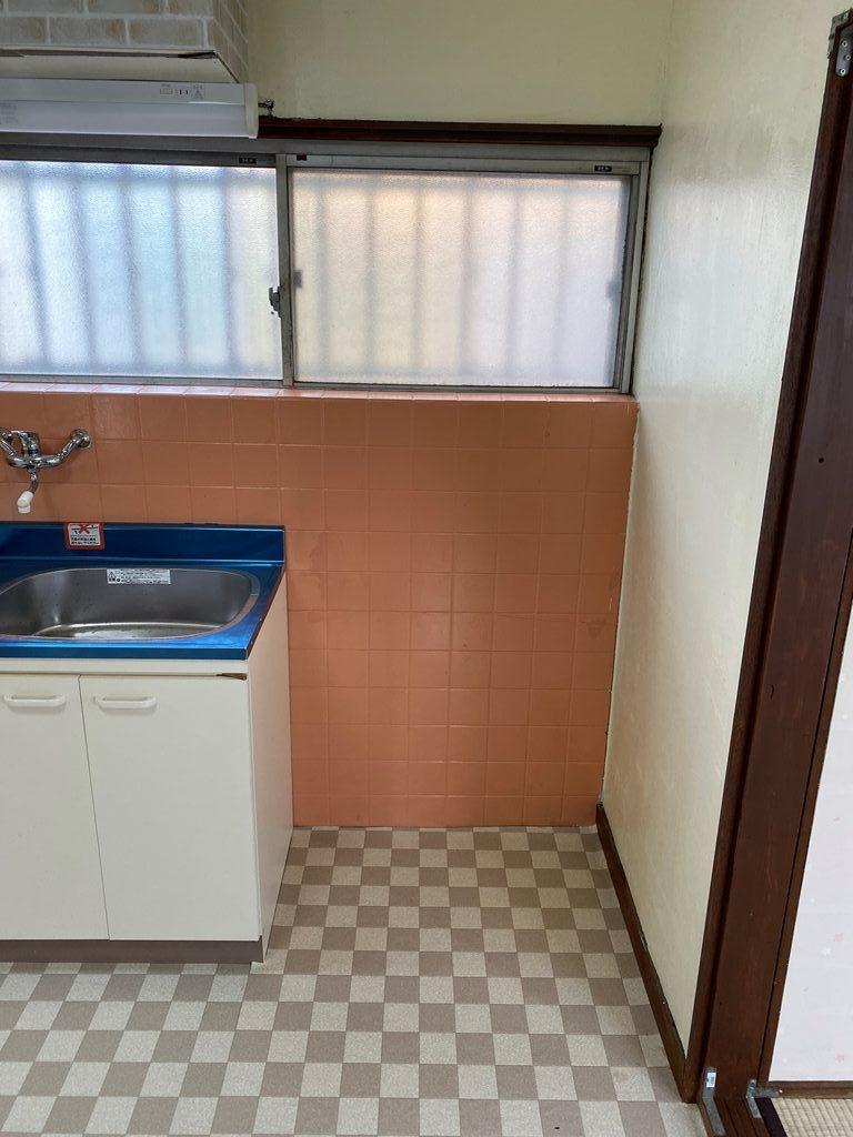 洗濯機置き場新設工事施工前