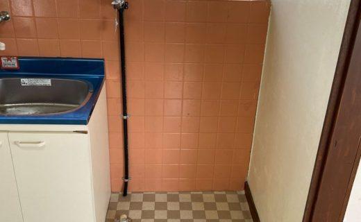 洗濯機置き場新設工事施工後
