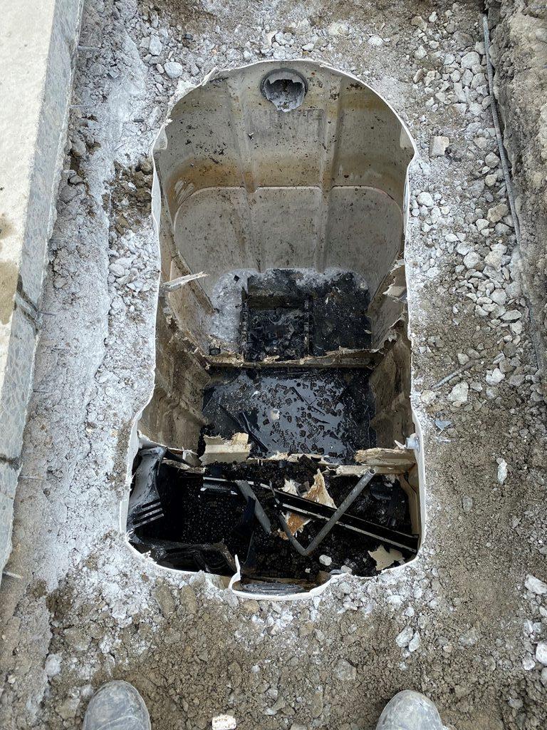 浄化槽内部解体状況