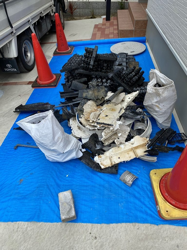 浄化槽内部解体廃棄物