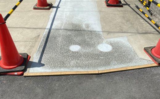 コンクリート打設工事完了状況