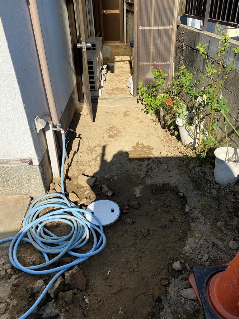 公共下水接続工事施工後写真
