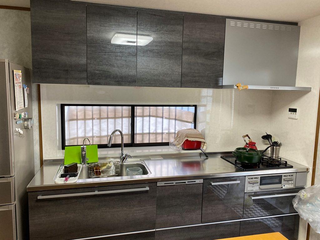 キッチン接続工事完了