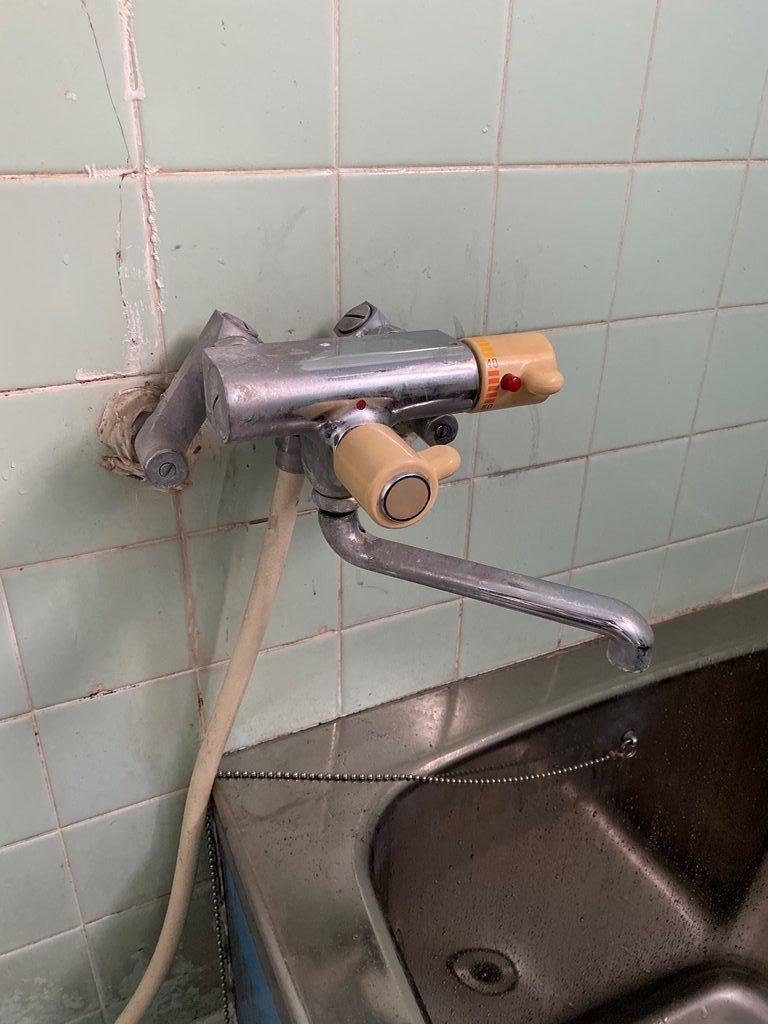 既設浴室サーモ式シャワー水栓