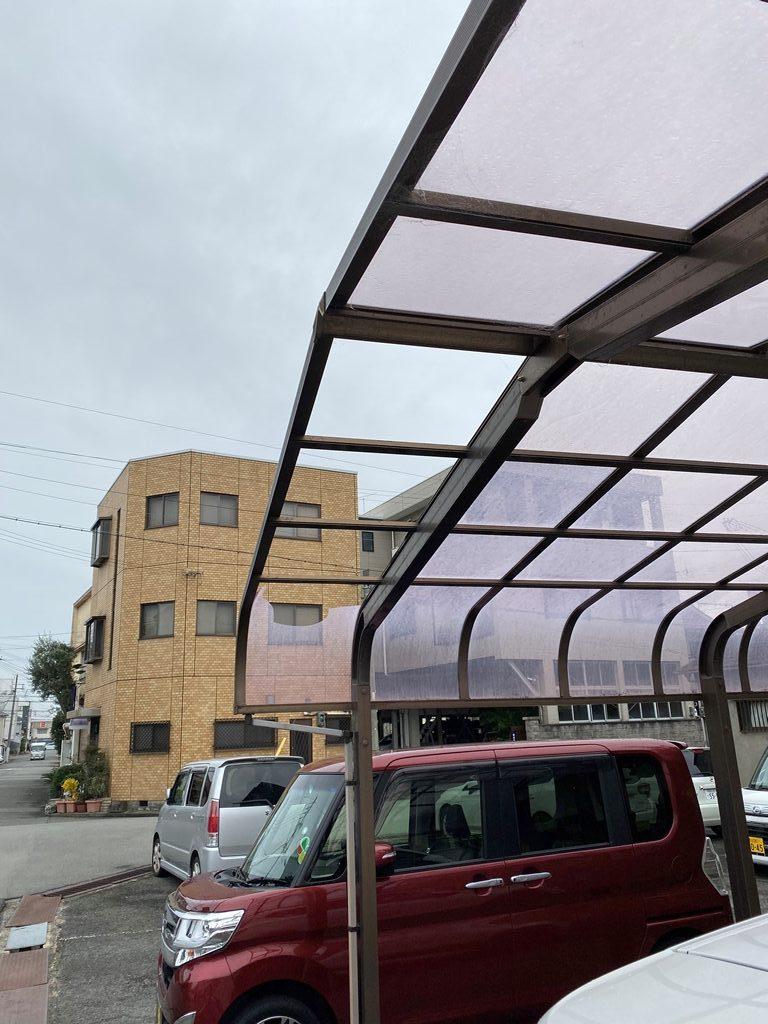 既設カーポート屋根写真