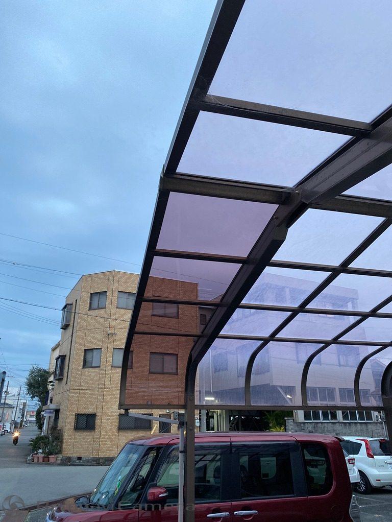 修繕後のカーポート屋根写真