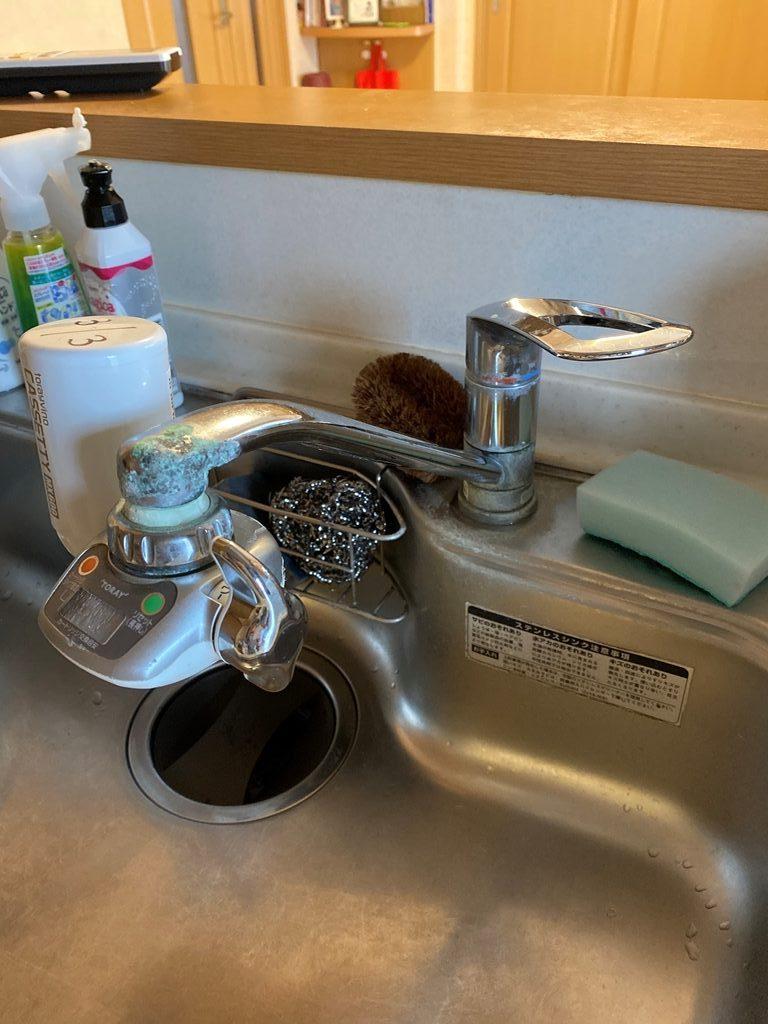キッチン水栓取替え前