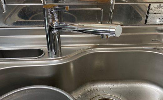 台所シングルレバー水栓取替え後