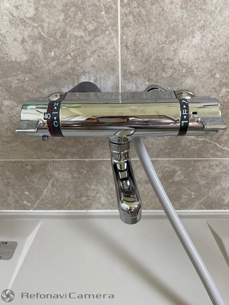 浴室シャワー取替え工事後