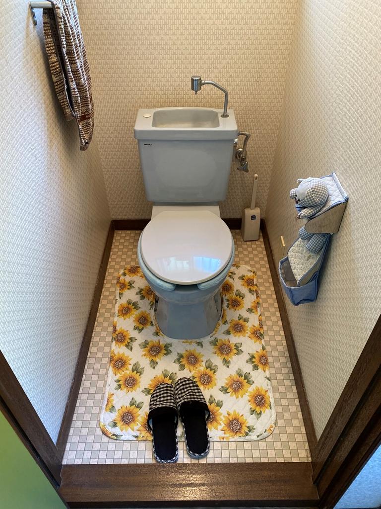 簡易水洗便器取替え前写真