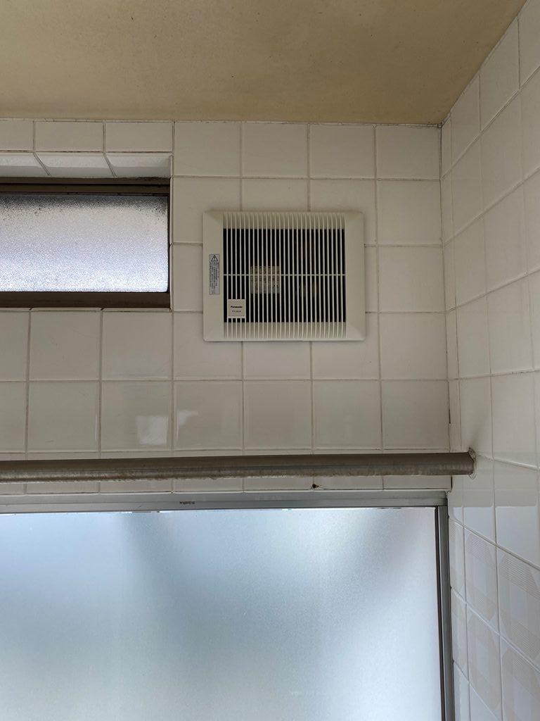 浴室換気扇取替え後の写真