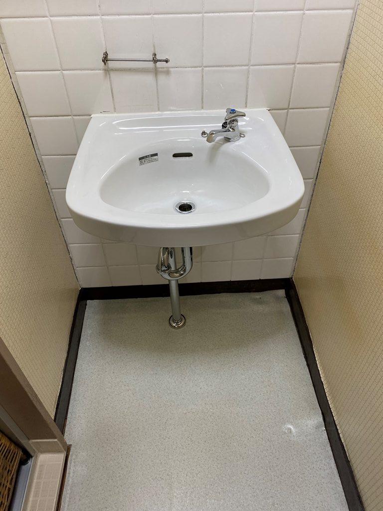 洗面器取替後の写真