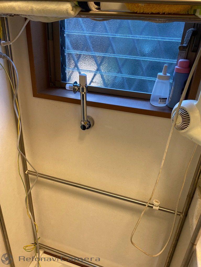 洗濯機用水栓取替工事後
