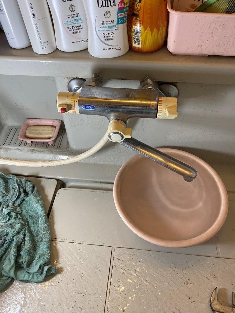 浴室シャワー水栓取替え前写真