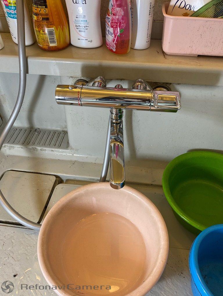 浴室シャワー水栓取替え後写真