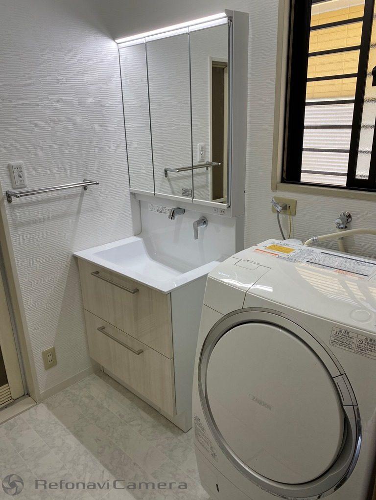 リフォーム後の洗面所