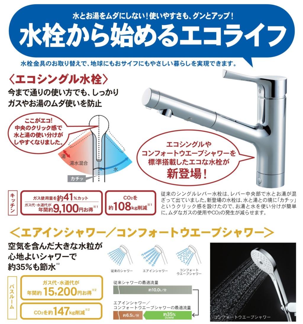 水栓から始めるエコライフチラシ